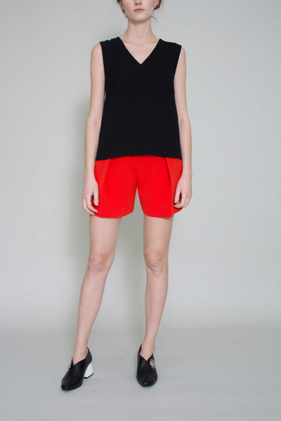 Red Libby Shorts