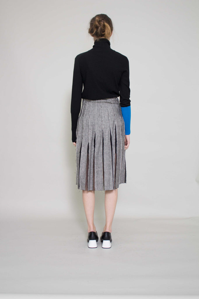 Olivia Grey Pleated Skirt