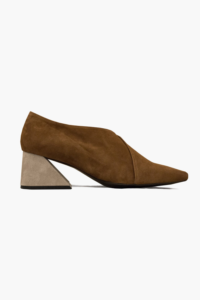Dark Mocha Suede Upper with Oat Heel