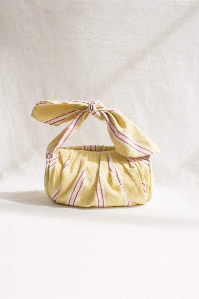 PRE-ORDER / Nane Linen Cotton Yellow Stripe Bag