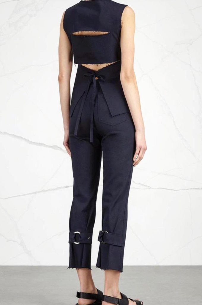 Amy Flared Navy Trousers