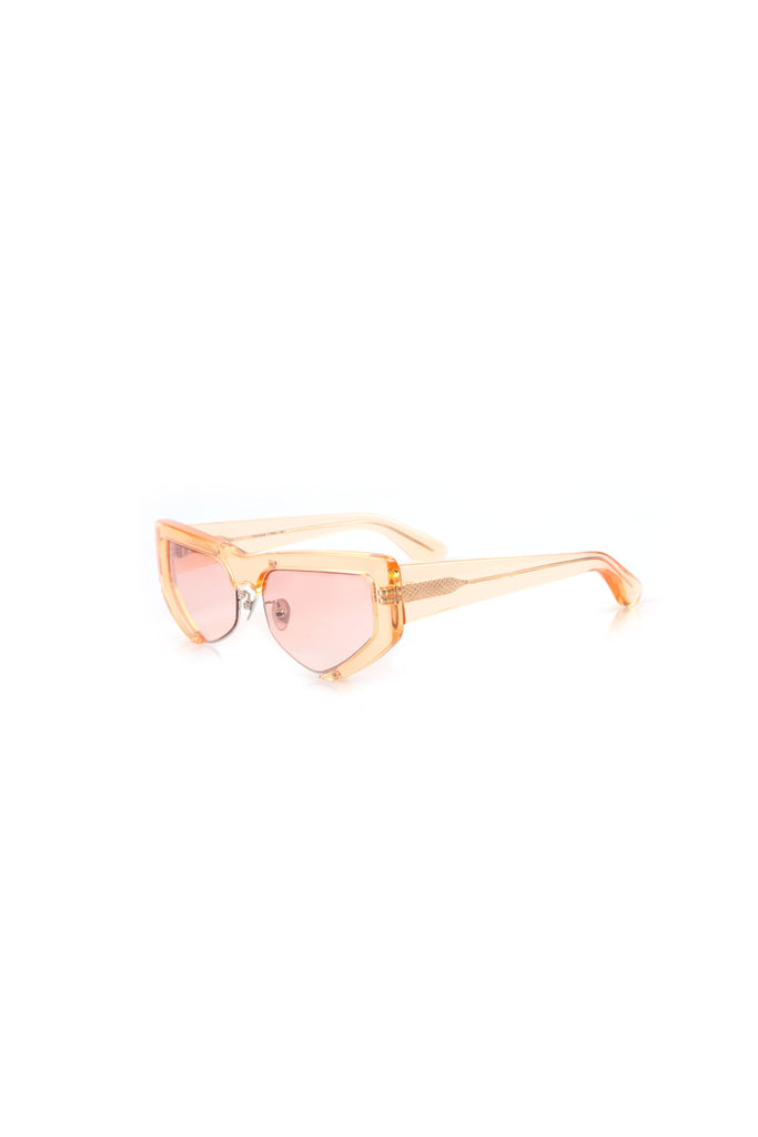 PRE-ORDER / Tate Yellow Frame Pink Ombre Sunglasses