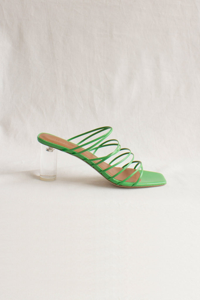 PRE-ORDER / Zoe Leather Green Heel