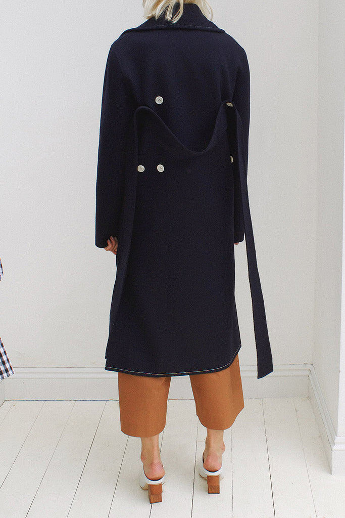 Simone Navy Wool Coat