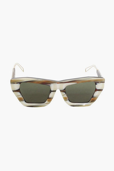 Marta Ivory Stripe Sunglasses