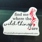 Tiger - Wild Things Vinyl Decal - Animals Anonymous Apparel