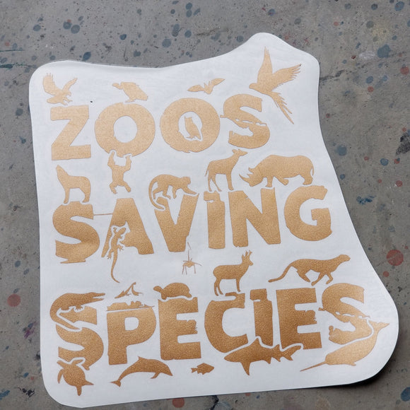 Zoos Saving Species - Vinyl Decal - Animals Anonymous Apparel