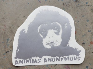 Gibbon Face - Vinyl Decal - Animals Anonymous Apparel