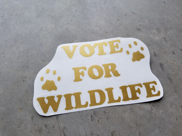 Vote for Wildlife - Vinyl Decal - Animals Anonymous Apparel