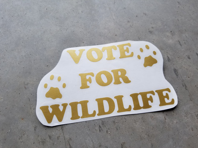 Vote for Wildlife - Vinyl Decal