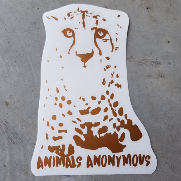 Cheetah Face - Vinyl Decal - Animals Anonymous Apparel