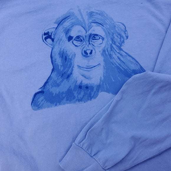 Chimp Long Sleeve Comfort Tee - Animals Anonymous Apparel