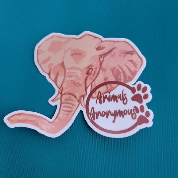 African Elephant Sketch - Sticker - Animals Anonymous Apparel
