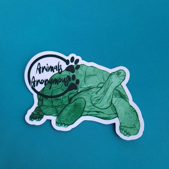 Tortoise Sketch - Sticker - Animals Anonymous Apparel