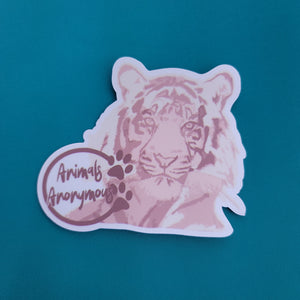 Tiger Sketch - Sticker - Animals Anonymous Apparel