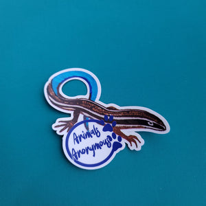 Blue-tailed skink Sketch - Sticker - Animals Anonymous Apparel