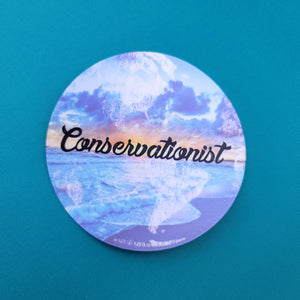 Conservationist World - Sticker - Animals Anonymous Apparel