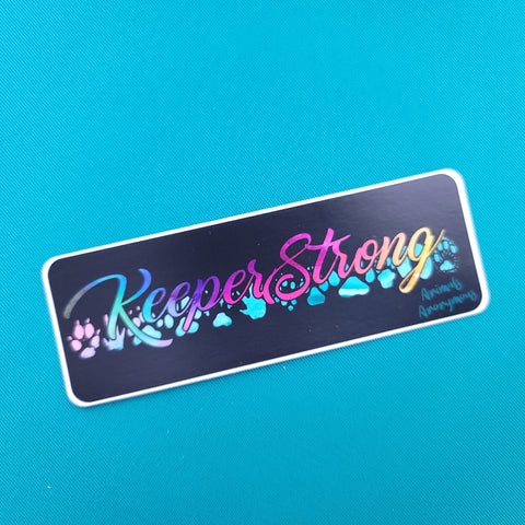 Keeper Strong - Sticker - Animals Anonymous Apparel