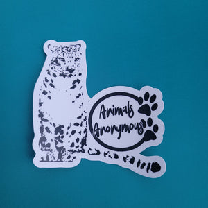 Snow Leopard - Sticker - Animals Anonymous Apparel