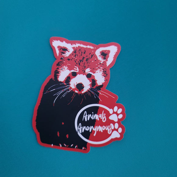 Red Panda (Two Color) - Sticker - Animals Anonymous Apparel