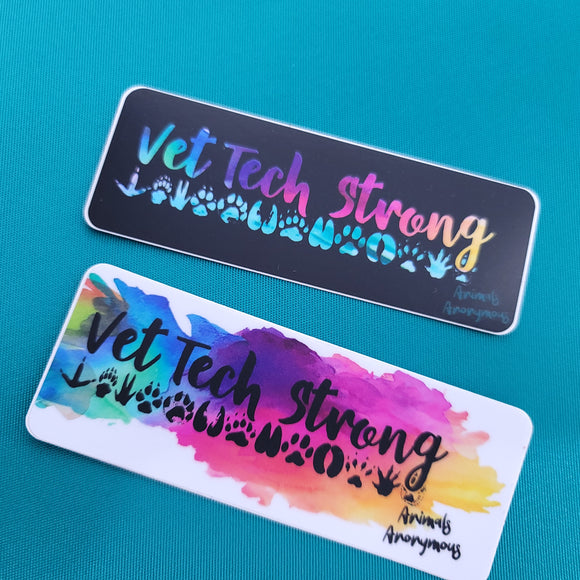 Vet Tech Strong (Paws) - Sticker - Animals Anonymous Apparel