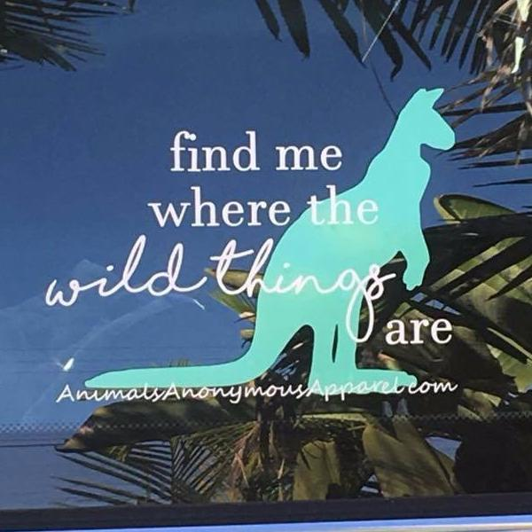 Kangaroo Wild Things - Vinyl Decal