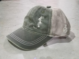 Tiger - Distressed Charcoal Trucker Hat