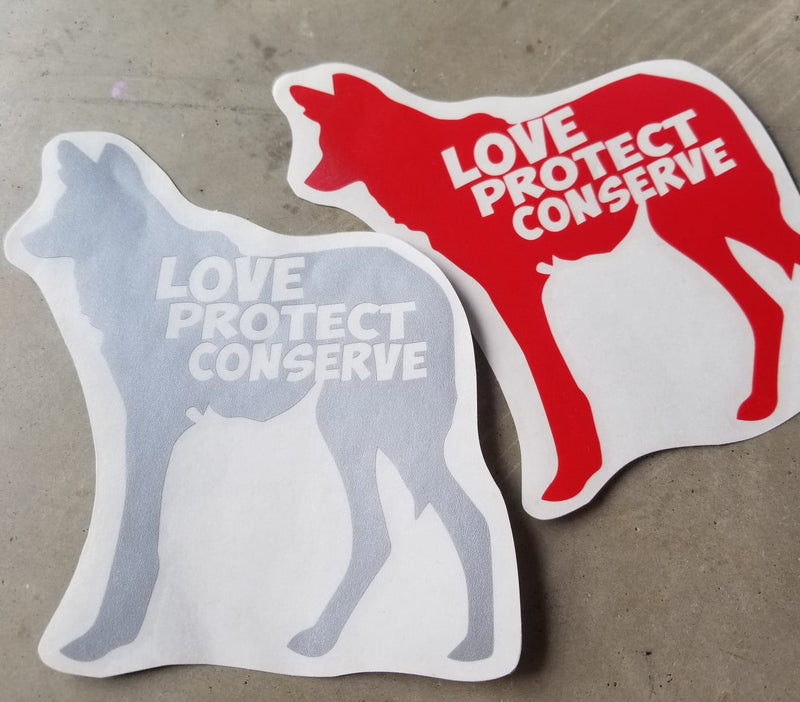 Maned Wolf - Love Protect Conserve - Vinyl Decal