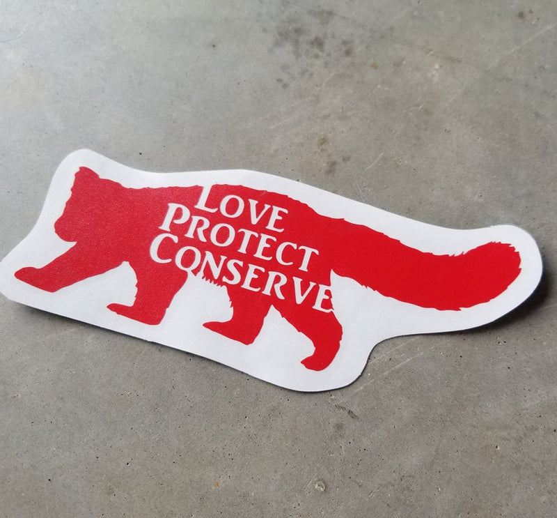 Red Panda - Love Protect Conserve - Vinyl Decal
