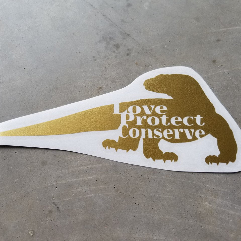Komodo Dragon - Love Protect Conserve - Vinyl Decal