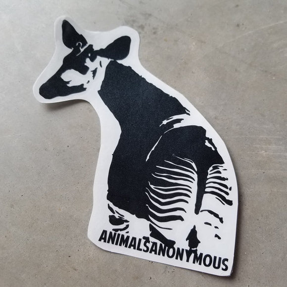 Okapi - Vinyl Decal - Animals Anonymous Apparel
