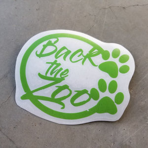 Back the Zoo Circle - Vinyl Decal