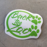 Back the Zoo Circle - Vinyl Decal - Animals Anonymous Apparel