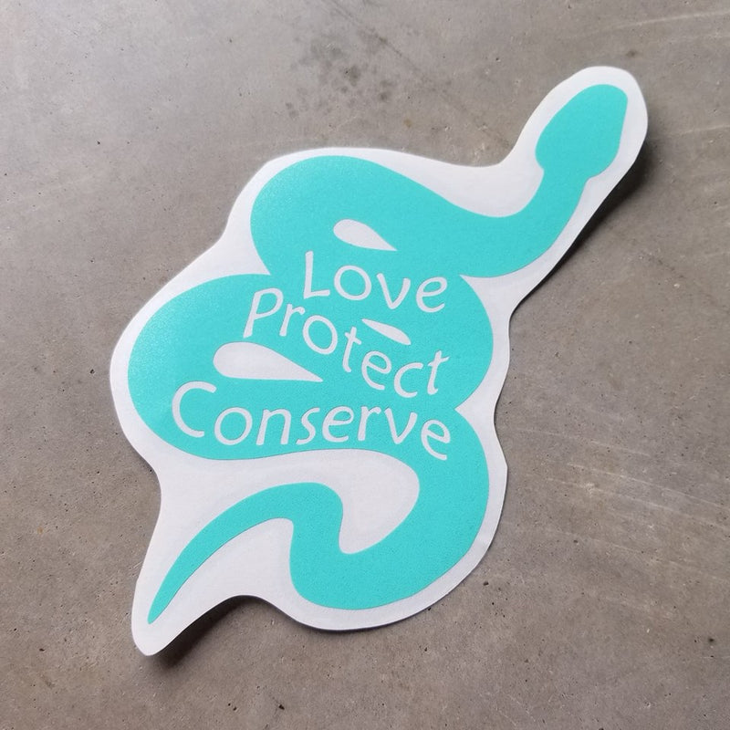 Snake - Love Protect Conserve - Vinyl Decal