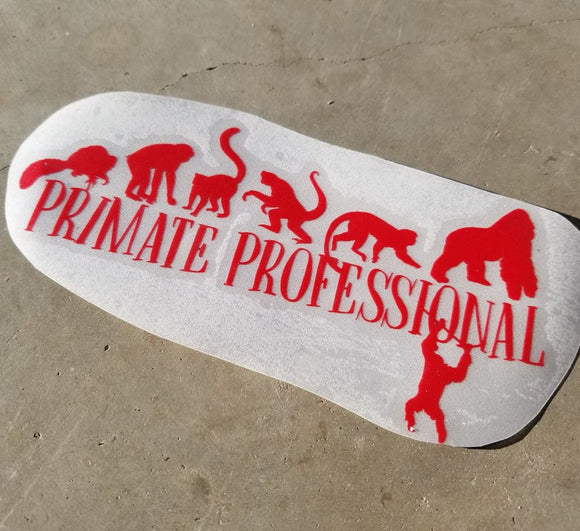 Primate Professional - Vinyl Decal - Animals Anonymous Apparel