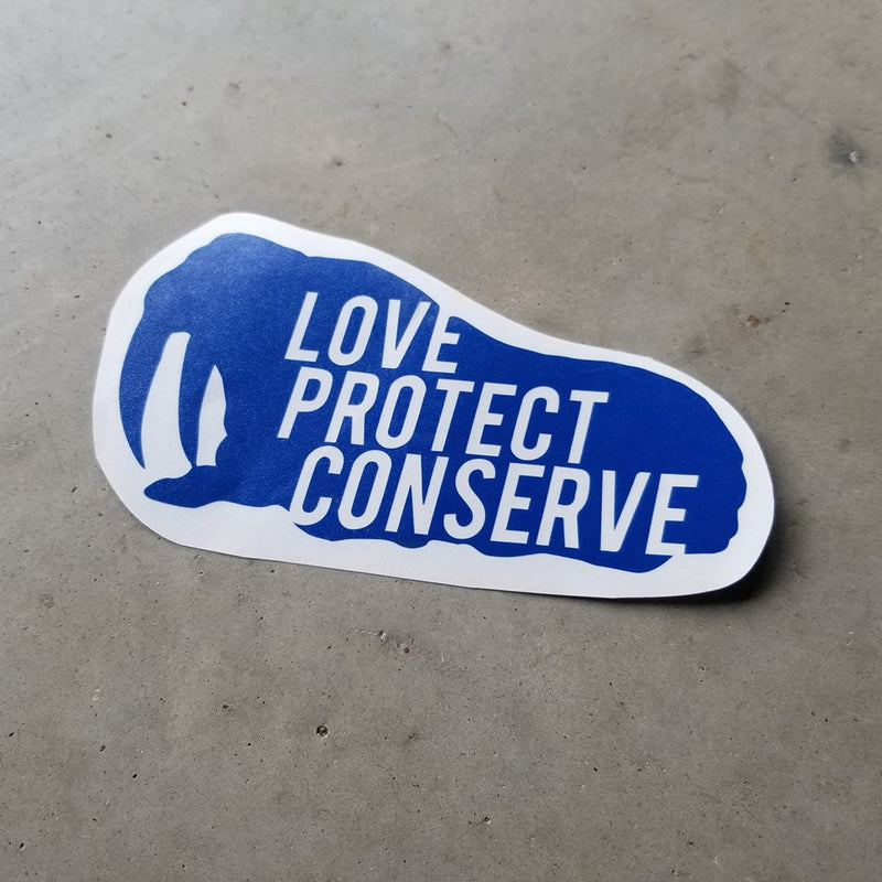 Walrus - Love Protect Conserve - Vinyl Decal