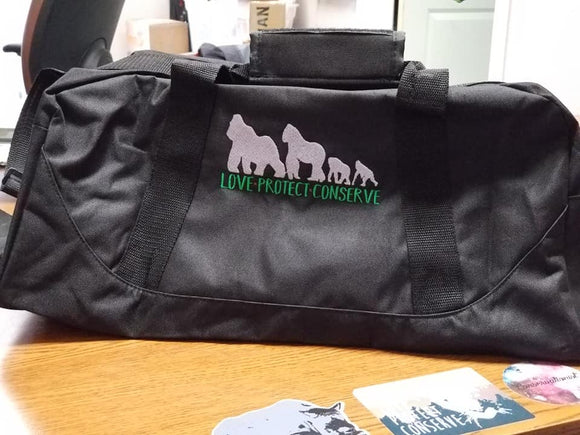 Embroidered Duffel Bag - Choose a Design - Animals Anonymous Apparel