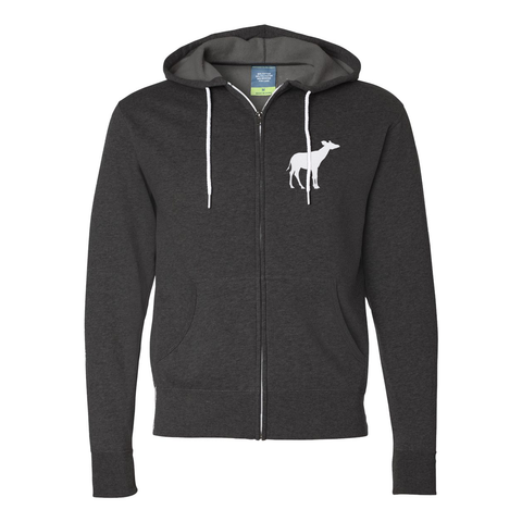Okapi Embroidery - Full Zip Jacket - Animals Anonymous Apparel