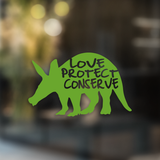 Aardvark Love Protect Conserve - Decal - Animals Anonymous Apparel