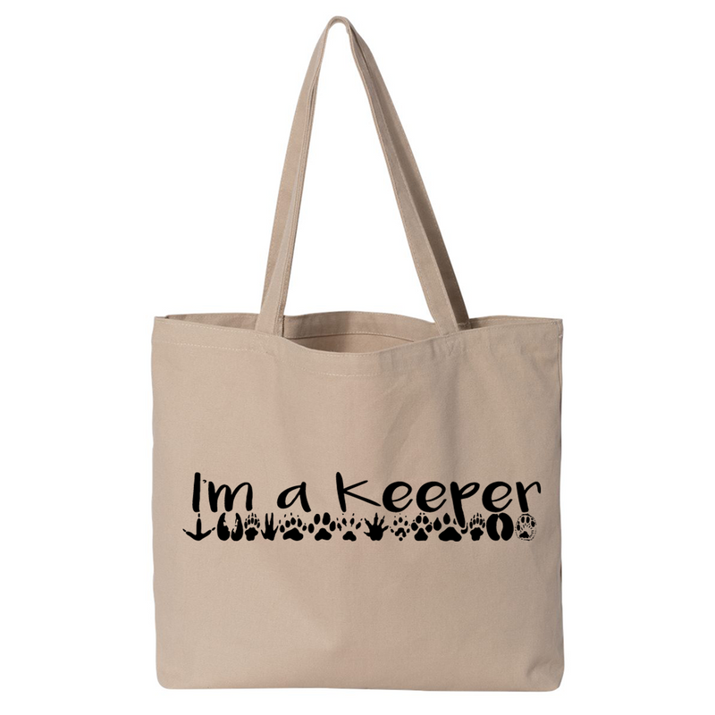 I'm A Keeper - Canvas Bags (2 Sizes)