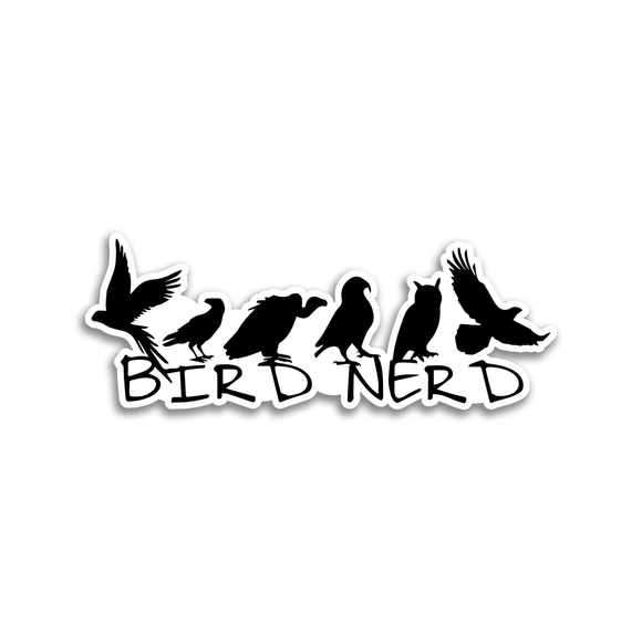Bird Nerd - Sticker - Animals Anonymous Apparel