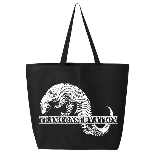 Pangolin Team Conservation - Canvas Bag (2 Size Options) - Animals Anonymous Apparel