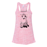Cheetah Face - Flowy Tank - Animals Anonymous Apparel