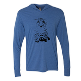 Cheetah Face - Unisex Hooded Pullover Tee - Animals Anonymous Apparel