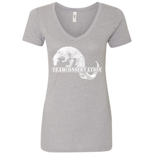 Pangolin Team Conservation - Women's V-Neck Tee - Animals Anonymous Apparel