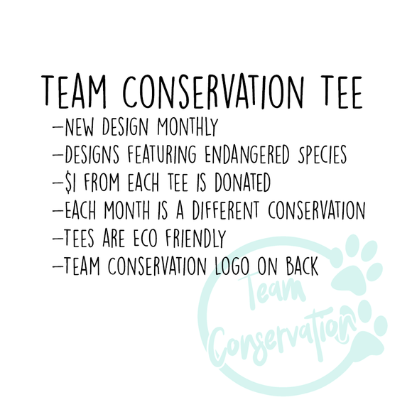 Team Conservation Tee - Animals Anonymous Apparel