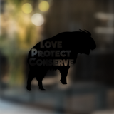 Love Protect Conserve Takin - Decal - Animals Anonymous Apparel