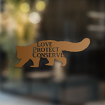 Love Protect Conserve Red Panda - Decal - Animals Anonymous Apparel
