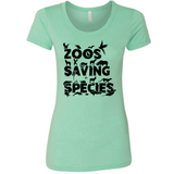 Zoos Saving Species - Women's Tee - Animals Anonymous Apparel