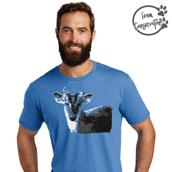 Team Conservation Tee - Muntjac (Pre Order Ends 10.31) - Animals Anonymous Apparel